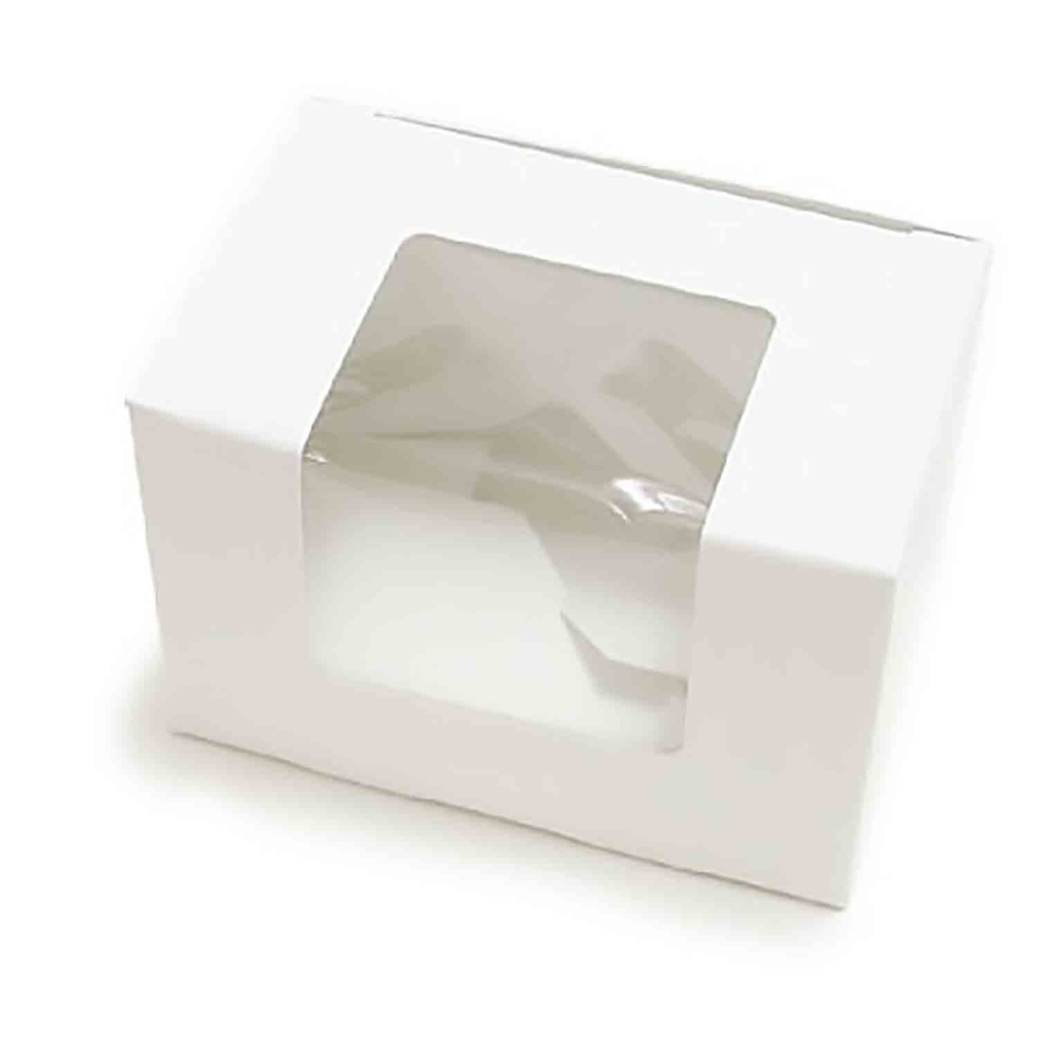 2 lb. White Egg Candy Box with Window