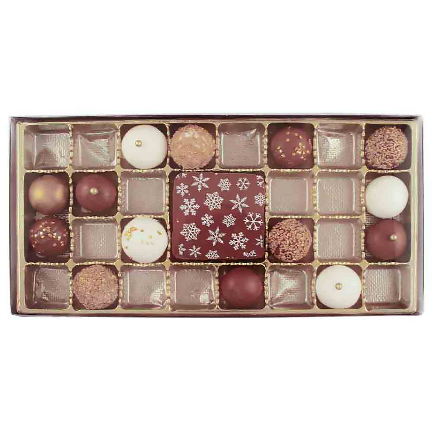 27 Cavity Gold Insert Candy Box with Clear Lid