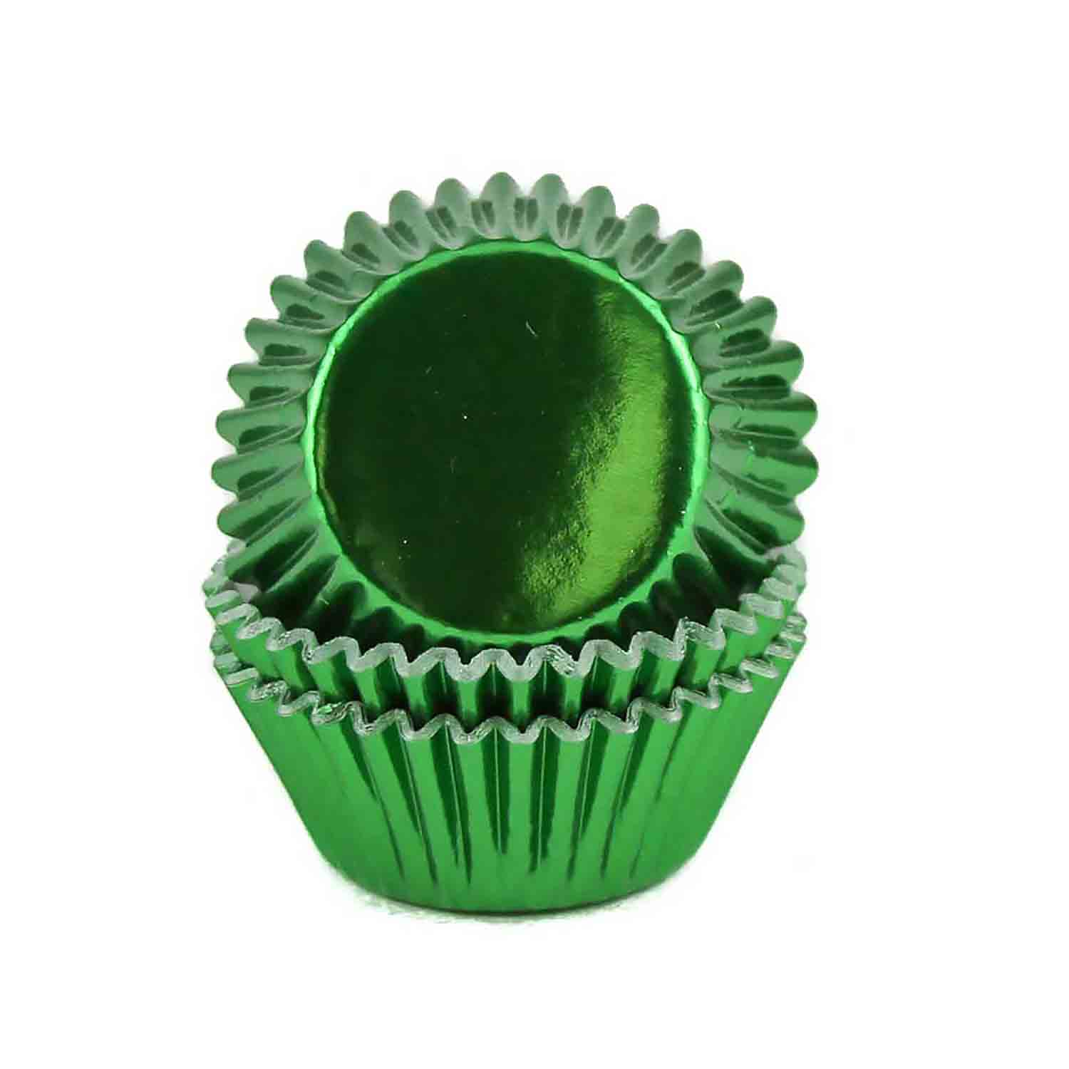 Green Foil Mini Baking Cups /# 6 Candy Cup