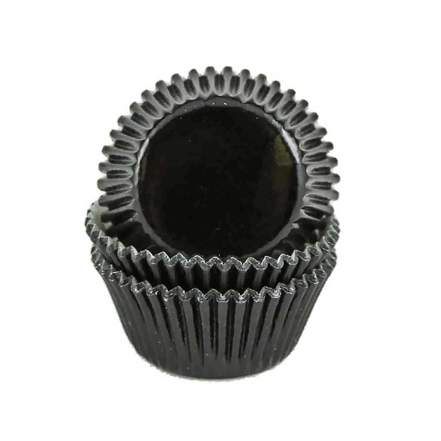 Black Foil Mini Baking Cups /# 6 Candy Cup