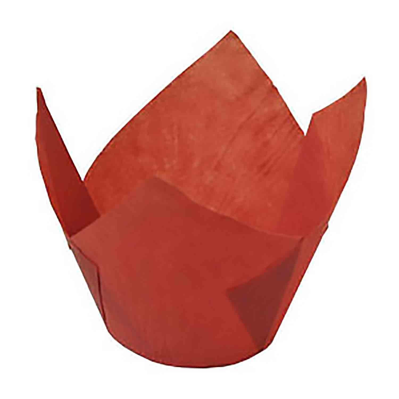 Red Medium Tulip Baking Cups