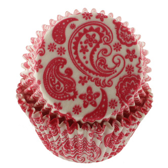 Hot Pink Paisley Standard Baking Cups