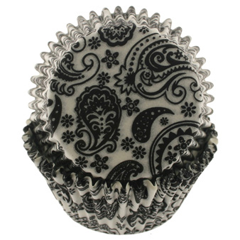 Black Paisley Standard Baking Cups