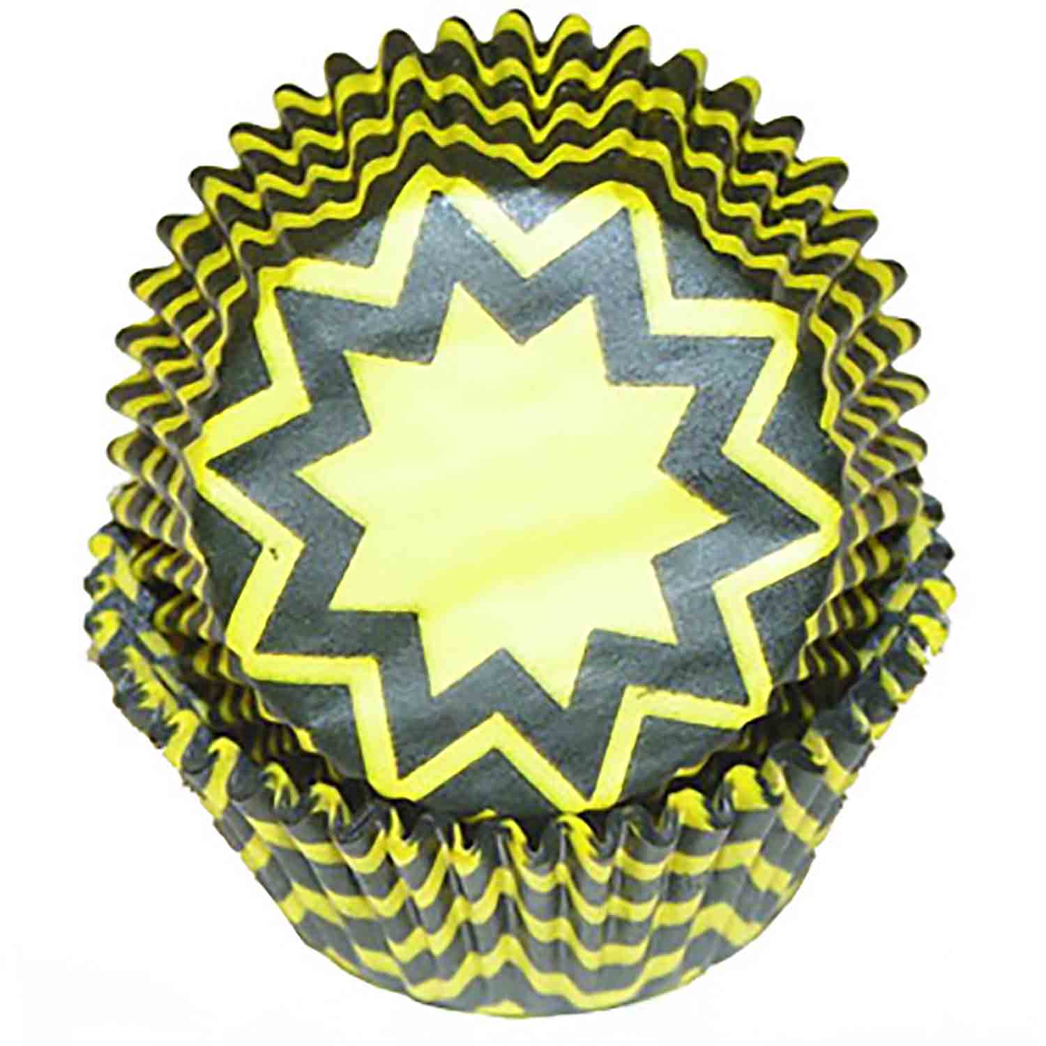 Yellow and Black Chevron Standard Baking Cups