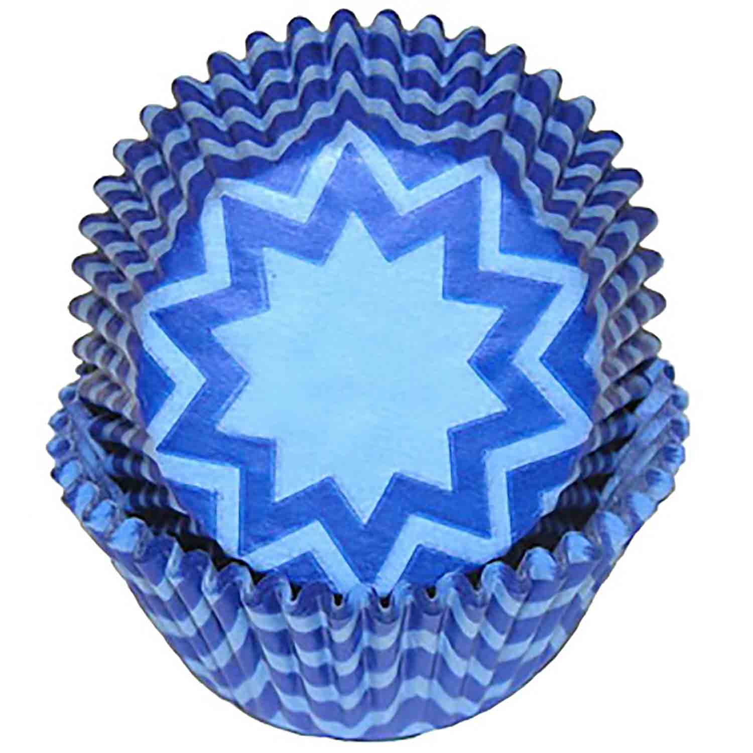 Blue Chevron Standard Baking Cups
