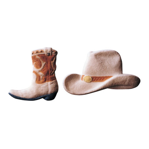 Dec-Ons® Molded Sugar - Cowboy Hat and Boots