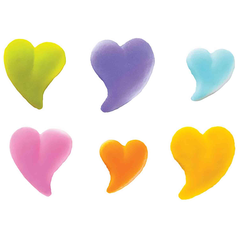 Dec-Ons® Molded Sugar - Teardrop Heart Assortment