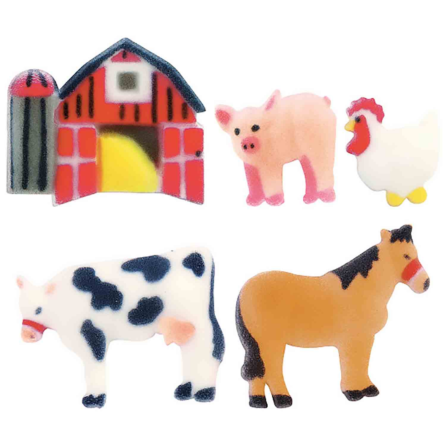 Dec-Ons® Molded Sugar - Farm Animal Assortment