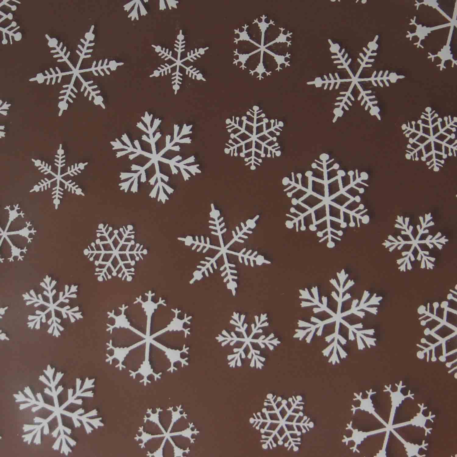Chocolate Transfer Sheet-Snowflake