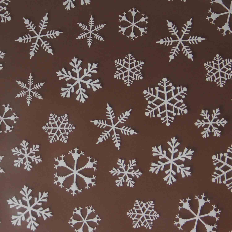 Chocolate Transfer Sheet-Snowflake