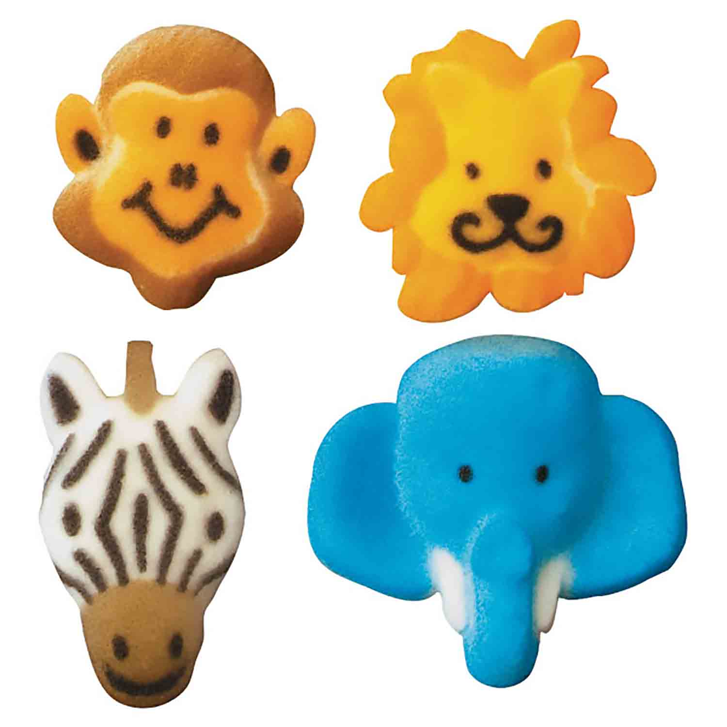 Dec-Ons® Molded Sugar - Jungle Animal Assortment