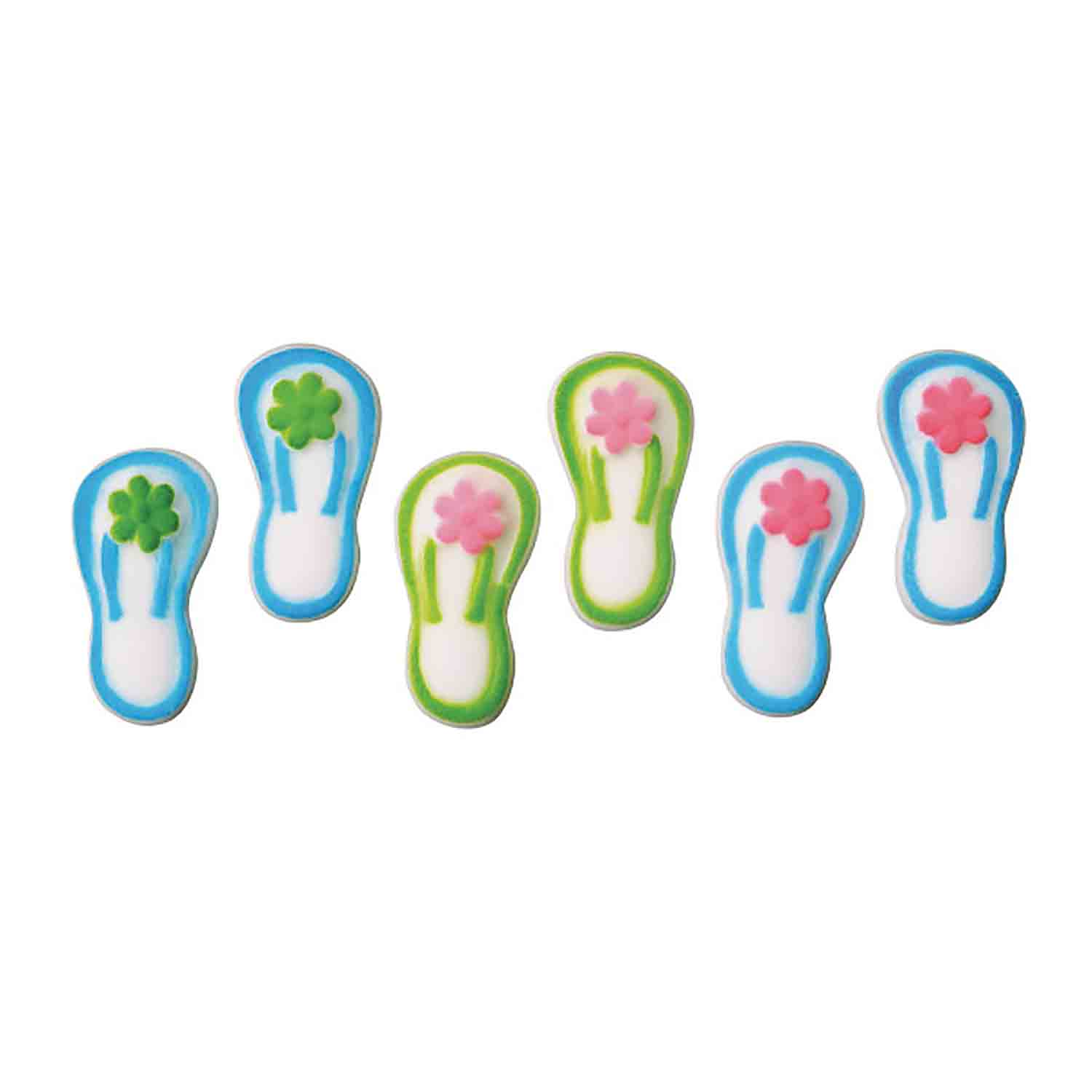 Dec-Ons® Molded Sugar - Flip Flop Sandals