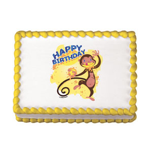 Edible Image® - Monkey Birthday