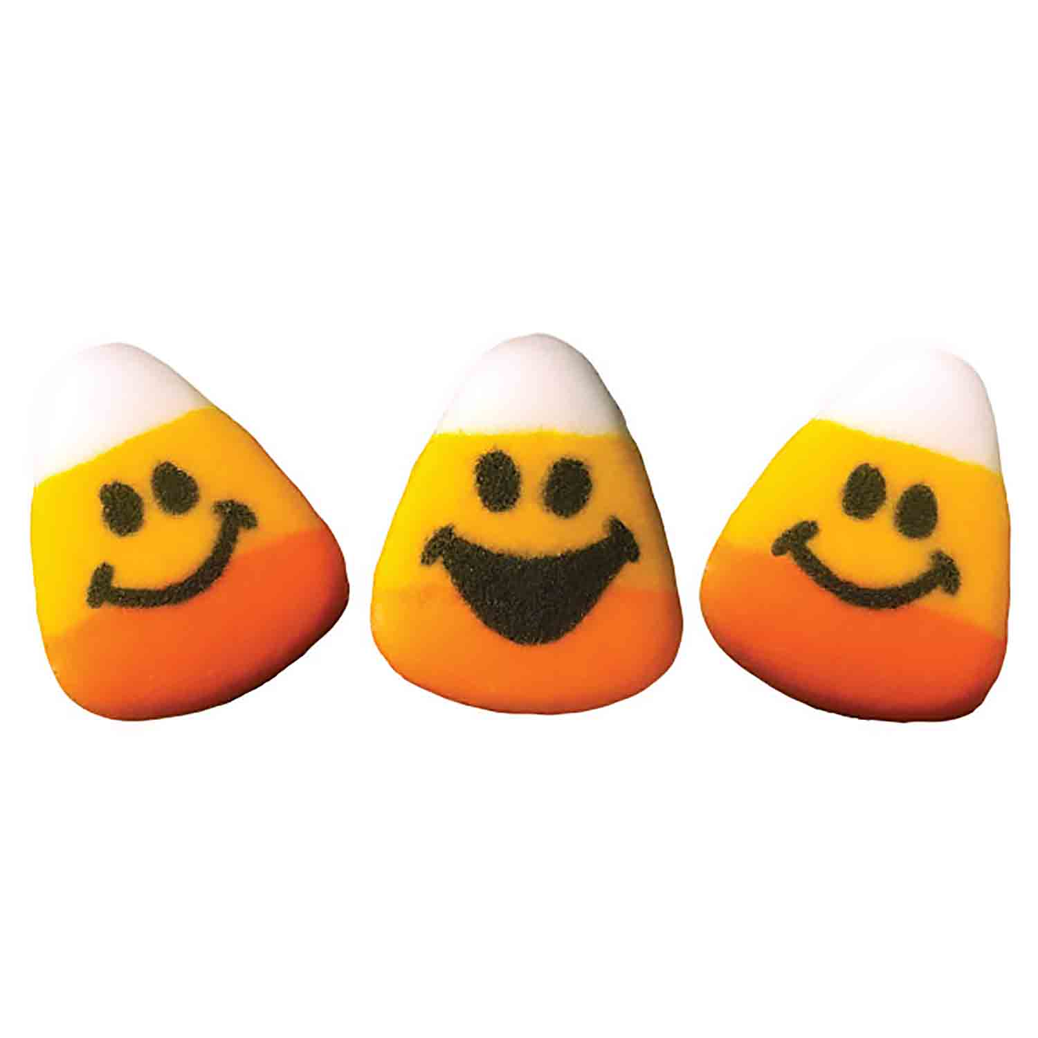 Dec-Ons® Molded Sugar - Candy Corn Faces