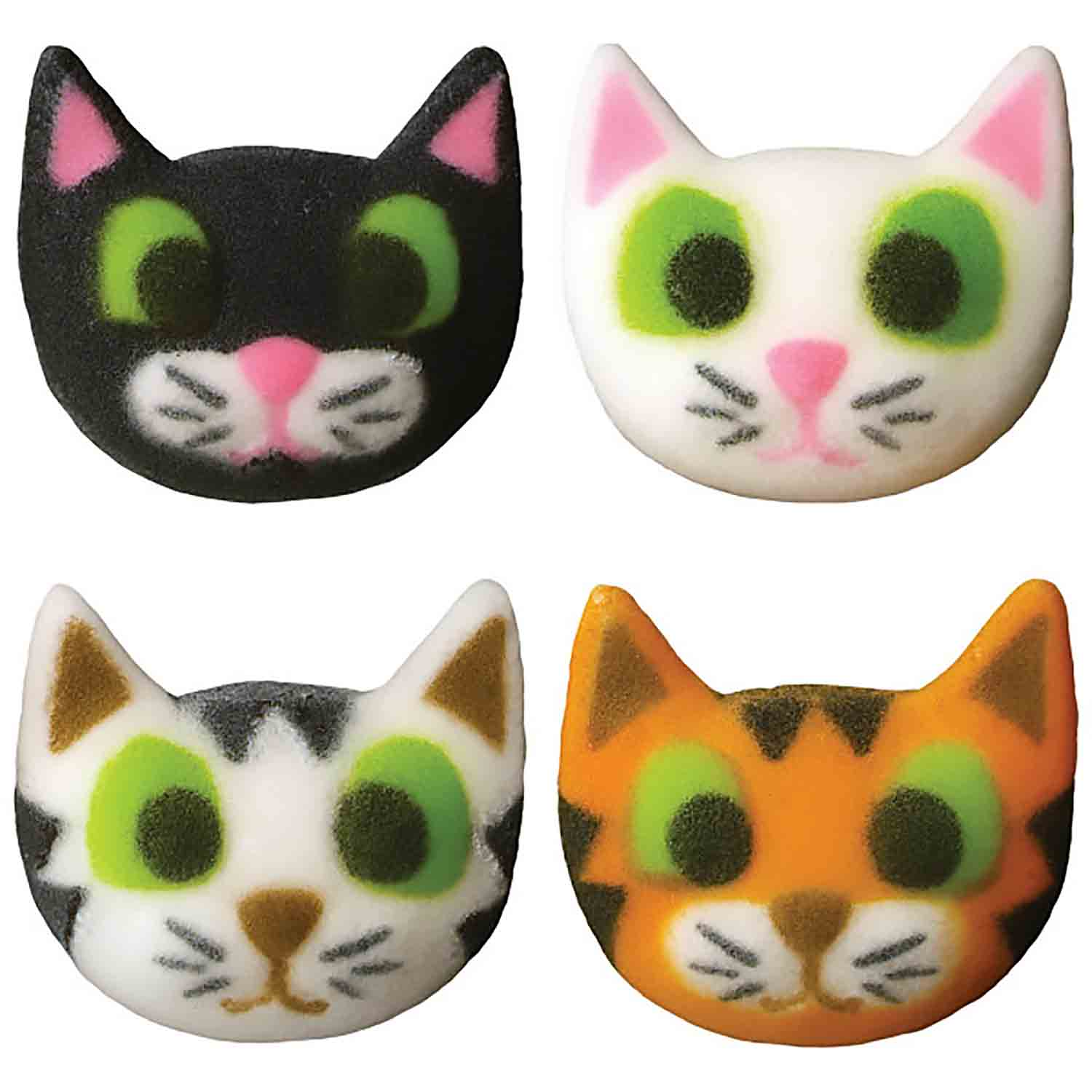 Dec-Ons® Molded Sugar - Cat Assortment