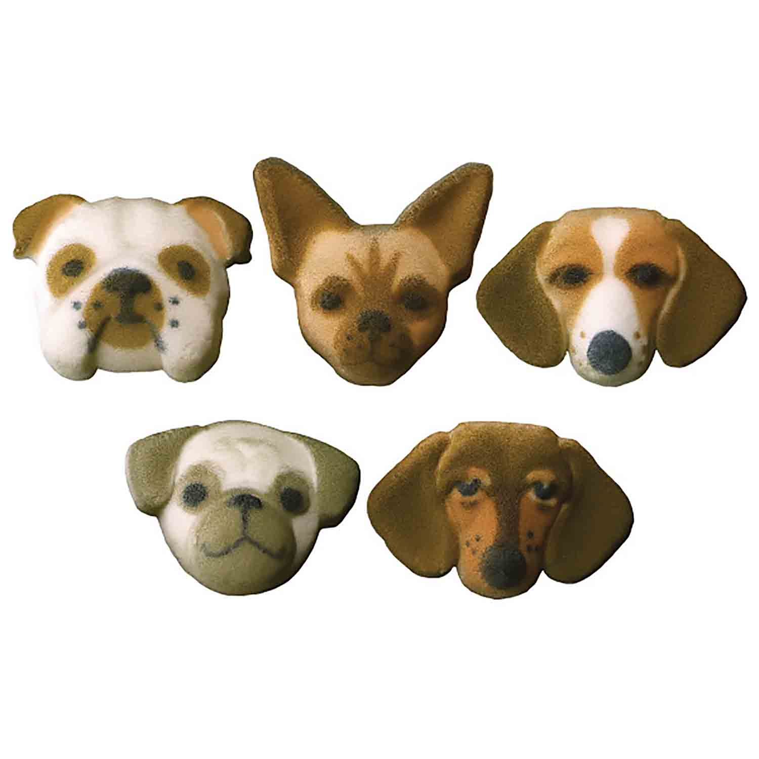 Dec-Ons® Molded Sugar - Dog Assortment