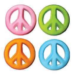 Dec-Ons® Molded Sugar - Peace Sign
