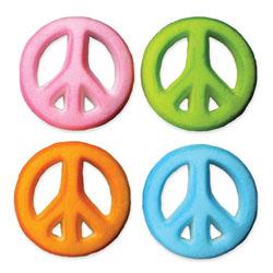 Dec-Ons® Molded Sugar - Peace Sign