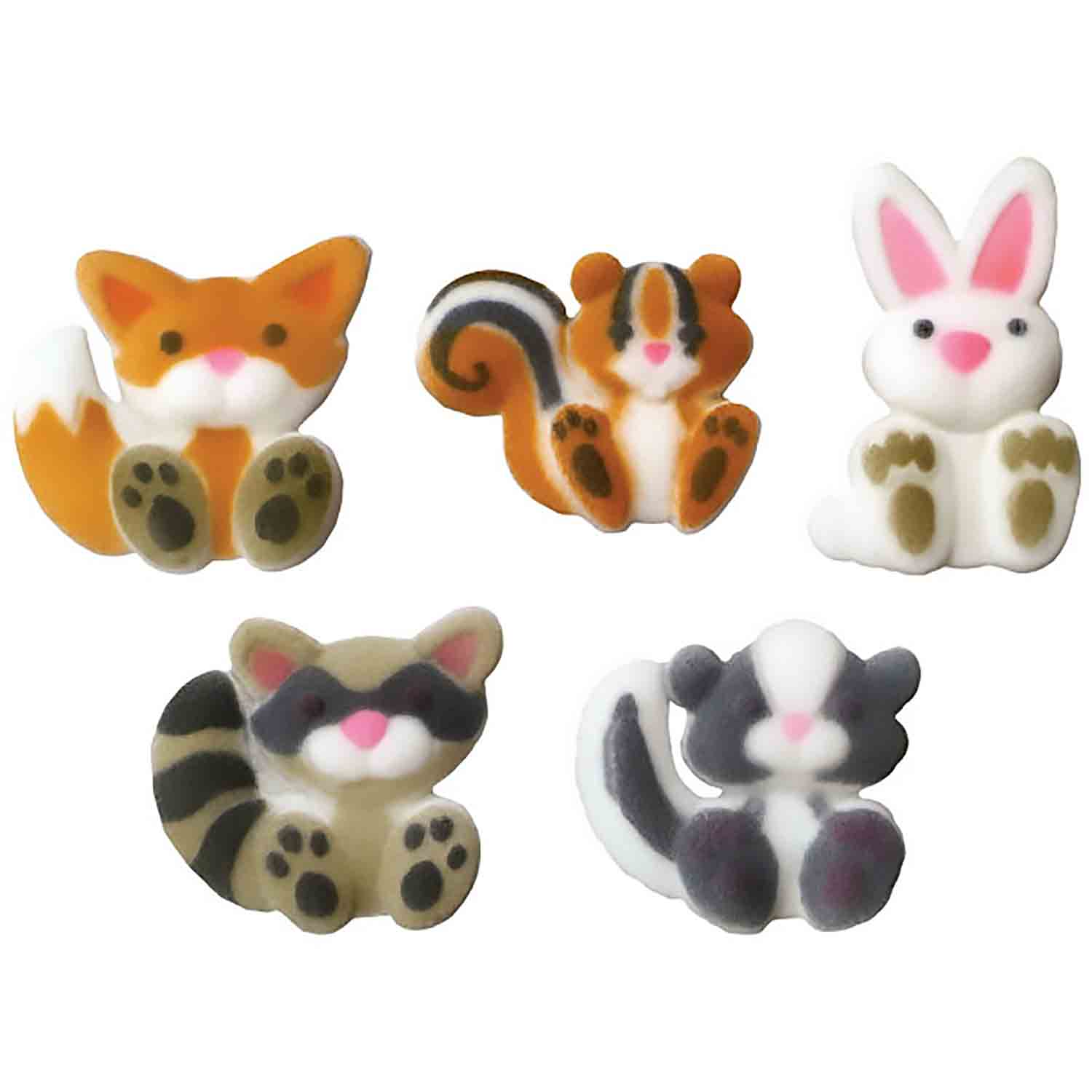 Dec-Ons® Molded Sugar - Woodland Animal Assortment