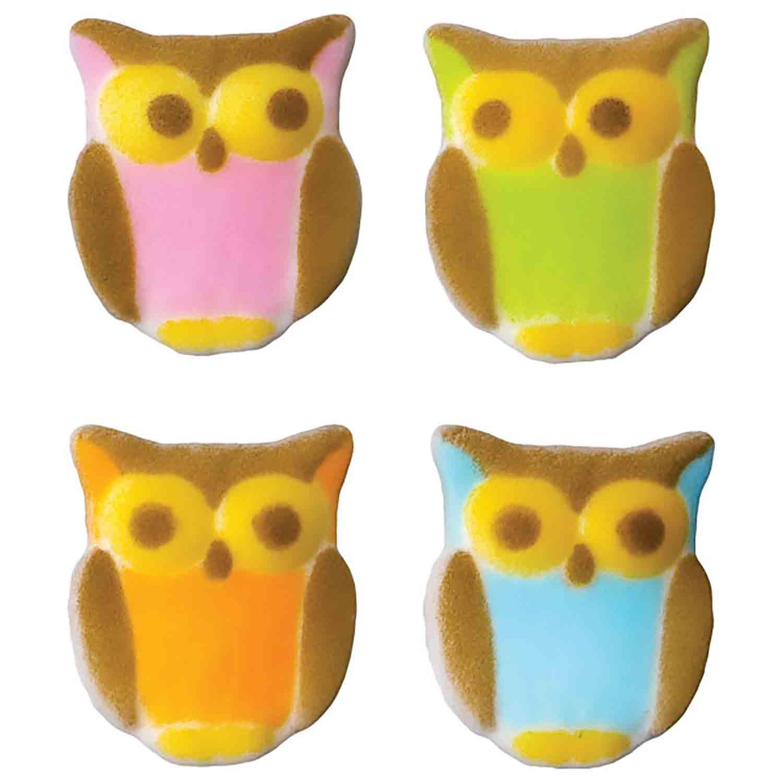 Dec-Ons® Molded Sugar - Owl Assortment