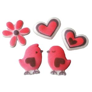 Dec-Ons® Molded Sugar - Love Birds Assortment