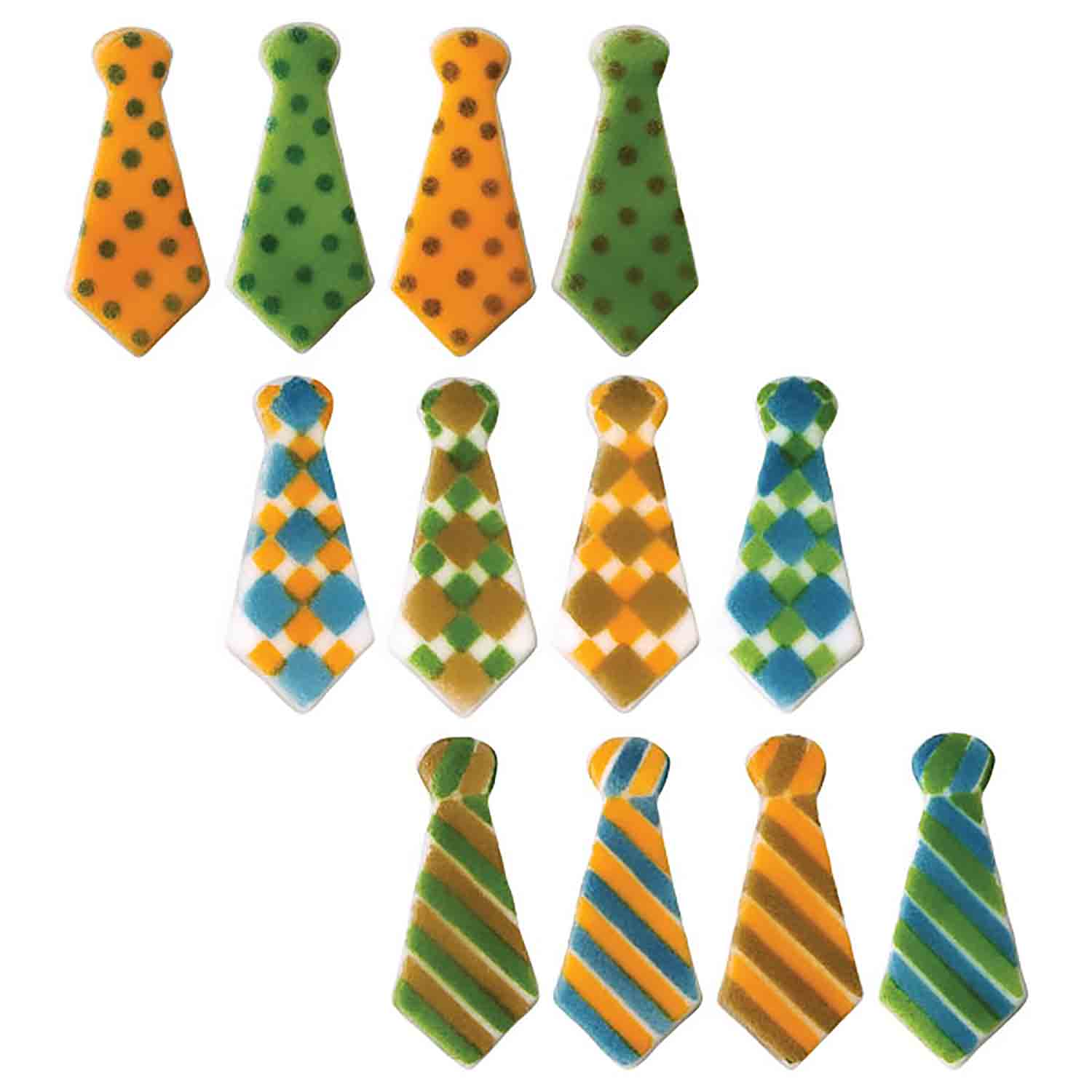 Dec-Ons® Molded Sugar - Tie Assortment