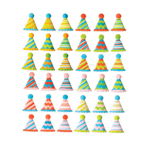 Dec-Ons® Molded Sugar - Party Hats