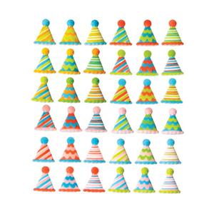 Dec-Ons® Molded Sugar - Party Hats