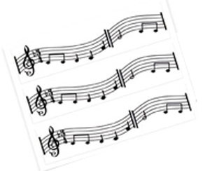Edible Image® Designer Prints™- Music Notes