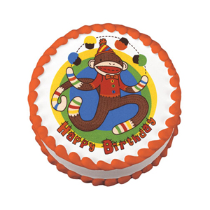 Edible Image® - Sock Monkey Birthday