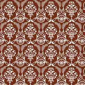 Chocolate Transfer Sheet - White Damask