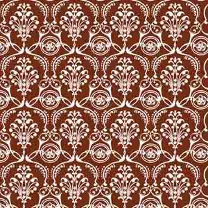 Chocolate Transfer Sheet - White Damask