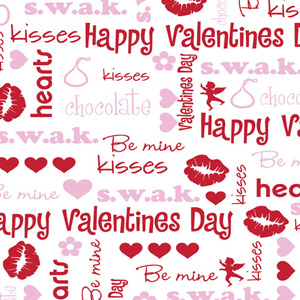 Chocolate Transfer Sheet -Valentine Kisses