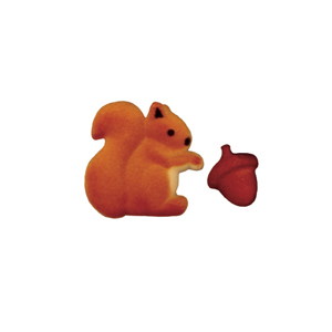 Dec-Ons® Molded Sugar - Squirrel & Acorn