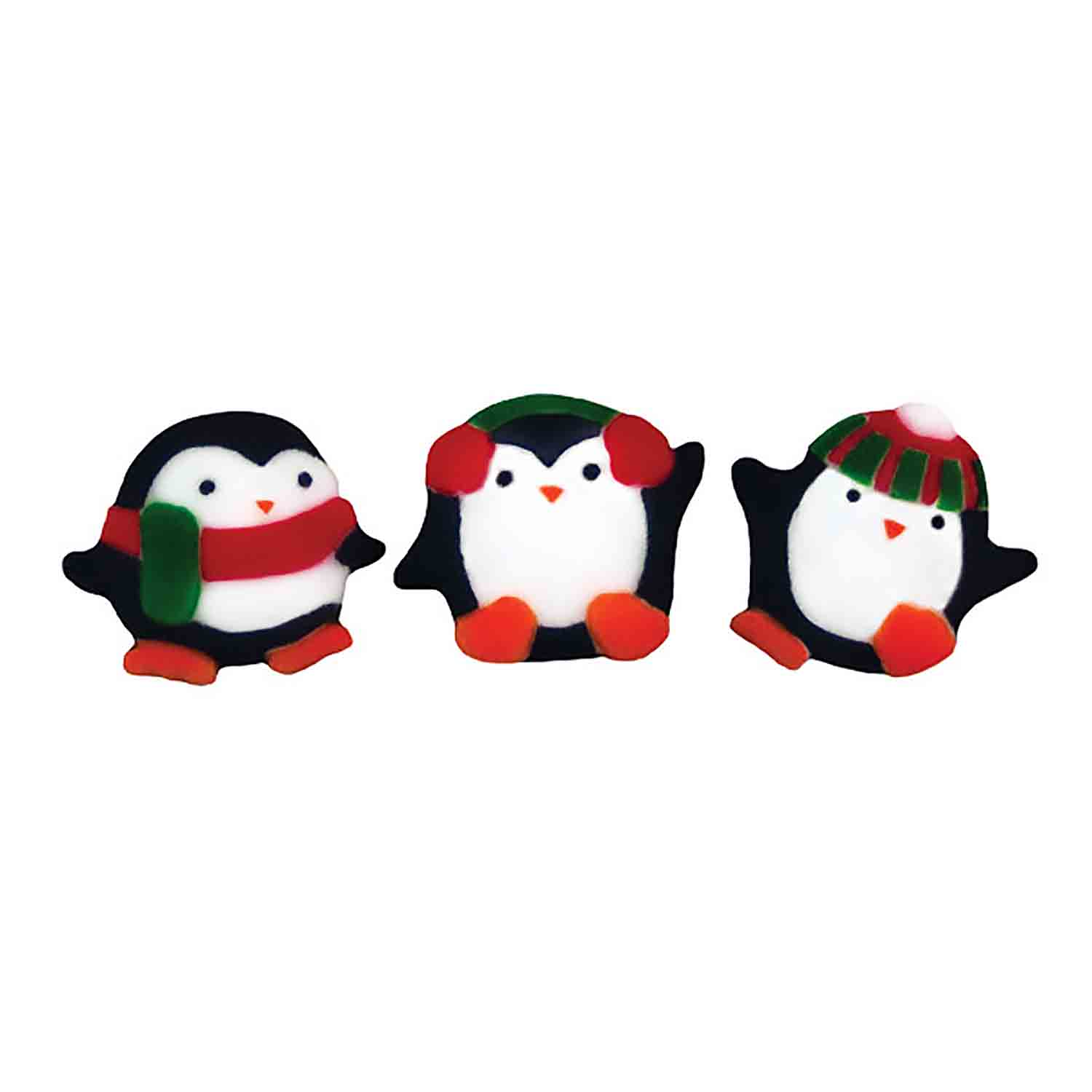 Dec-Ons® Molded Sugar - Playful Penguins