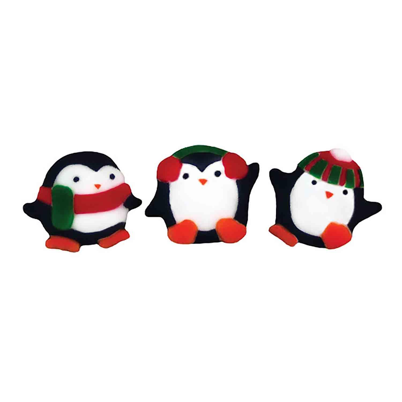 Dec-Ons® Molded Sugar - Playful Penguins