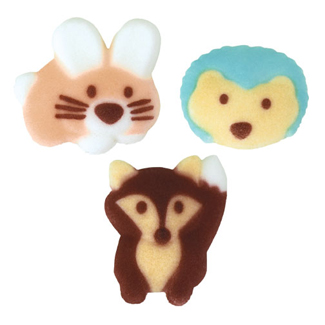 Dec-Ons® Molded Sugar - Woodland Buddies