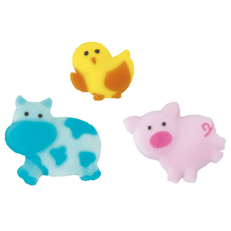 Dec-Ons® Molded Sugar - Happi Barnyard Assortment