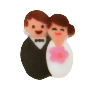 Dec-Ons® Molded Sugar - Bride and Groom