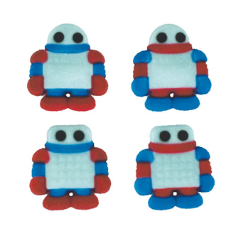Dec-Ons® Molded Sugar - Robots