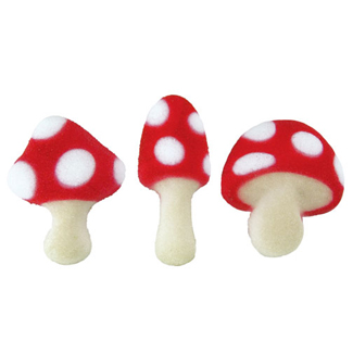 Dec-Ons® Molded Sugar - Toadstool Assortment