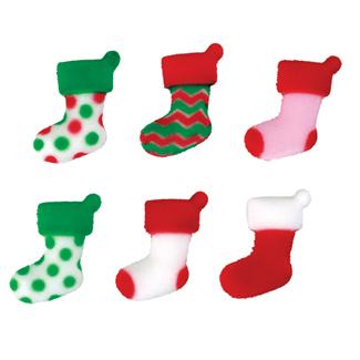 Dec-Ons® Molded Sugar - Elf Stockings Assortment