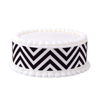 Edible Image® Designer Prints™- Black Chevron