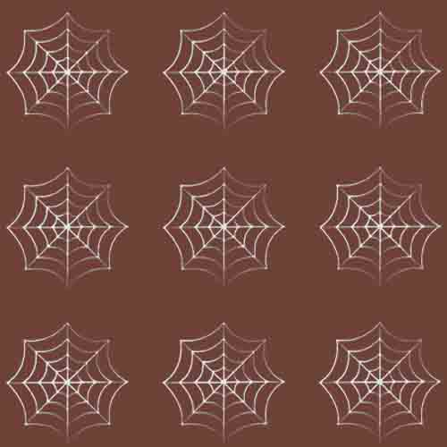 Chocolate Transfer Sheet - Spider Web