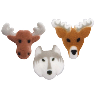 Dec-Ons® Molded Sugar - Wildlife Assortment