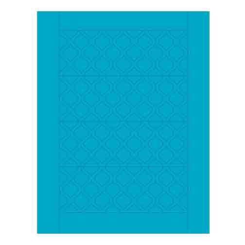 Sweet Shapes® Fondant Teal Quatrefoil Strips