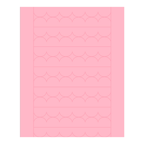 Sweet Shapes® Fondant Soft Pink Scallop Strips