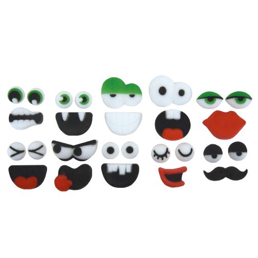 Dec-Ons® Molded Sugar - Face Assortment Set