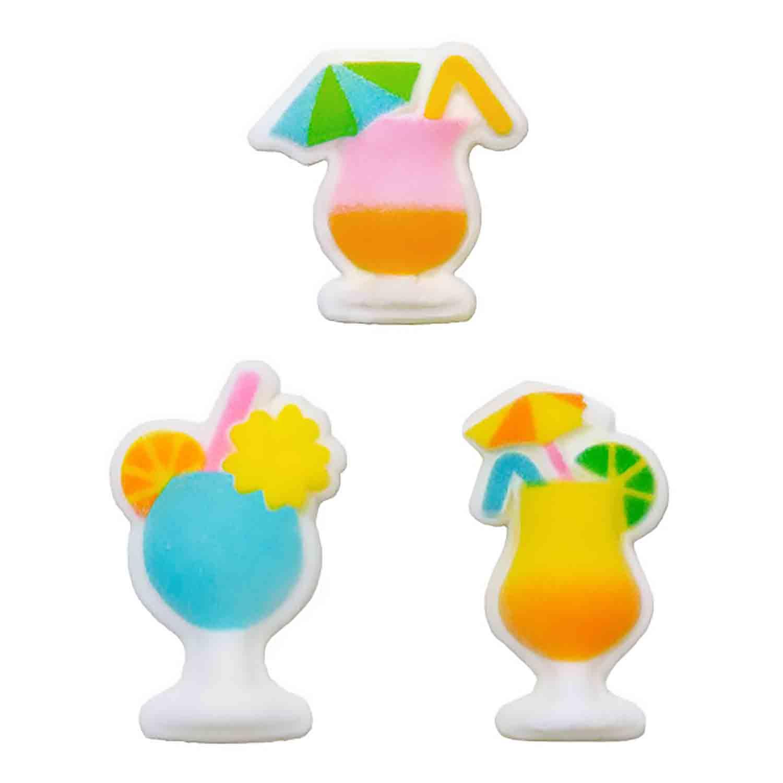 Dec-Ons® Molded Sugar - Tropical Drink Assortment