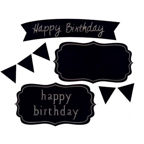 Sweet Shapes® Fondant Birthday Chalkboard